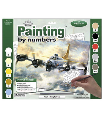 "15-3/8""x11-1/4"" Adult Paint By Number Kit-Flying Fortress"