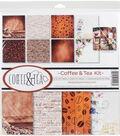 Reminisce Collection Kit 12\u0022X12\u0022-Coffee & Tea
