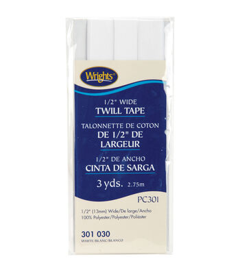 Wrights Twill Tape White