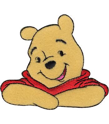 """Disney® Winnie The Pooh® Iron On Applique-3""""X2-5/8"""" 1/Pkg"""