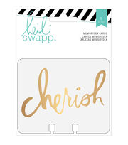 Memorydex Clear Cards 8/Pkg-Wanderlust W/Gold Foil, , hi-res