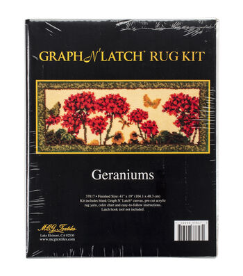 MCG Textiles Latch Hook Kit 41''x19''-Geranium