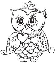 "Mini Clear Stamp 3""X5""-Owl, , hi-res"