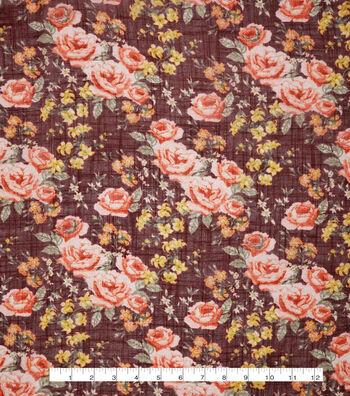 """Silky Gauze Fabric 56""""-Bouquet"""