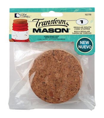 Transform Mason Cork Lid 1/Pkg-Regular Mouth
