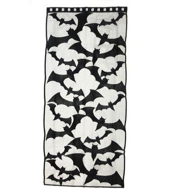 Maker's Halloween 36''x80'' Window or Door Panel-Black Bats