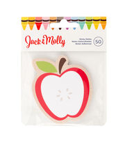 American Crafts™ Jack & Molly 50 Pack Sticky Notes-Red Apple, , hi-res