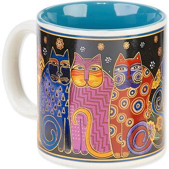 Laurel Burch Artistic Mug Collection-Feline Family Portrait