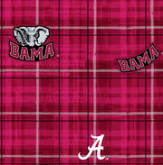 "University of Alabama Crimson Tide Cotton Fabric 44""-Plaid, , hi-res"