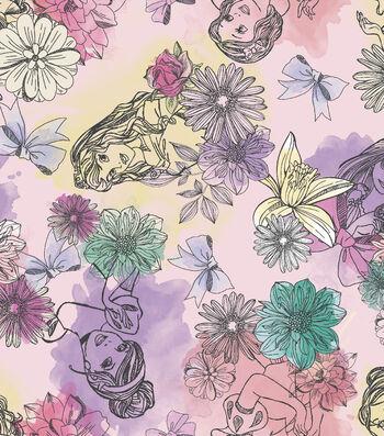 Disney® Princess Satin Fabric 57''-Watercolor