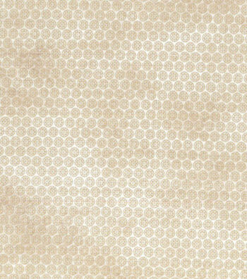 Asian Inspired Cotton Fabric 43''-Metallic Gold Floral Dots