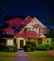 University of Arkansas Razorbacks Team Pride Light Projector, , hi-res