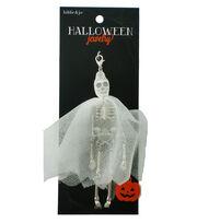 hildie & jo™ Halloween Ghost Skeleton Doll Silver Pendant, , hi-res