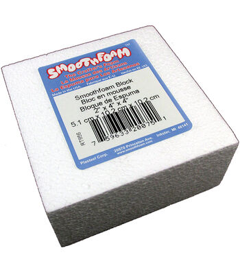 "Smooth Foam Block 2""X4""X4"" 1/Pkg-White"