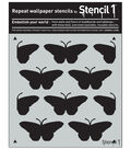 Stencil1 11\u0027\u0027x11\u0027\u0027 Repeat Wallpaper Stencil-Butterflies