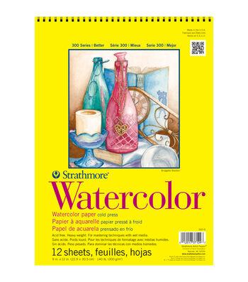 "Strathmore Watercolor Paper Pad 11""X15""-140lb Cold Press 12 Sheets"