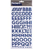 "Thickers Chipboard Alphabet Stickers 5.625x11"" Sheet-Macaw, , hi-res"