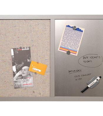 "MasterVision Combo Bulletin Board 18""X24""-Silver Dry Erase"