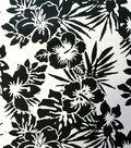 Cotton Shirting Tropical Fabric 57\u0022-Black & White Jumbo Floral