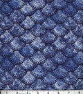 Buttercream™ Poppy Collection Cotton Fabric-Floral Fan Navy