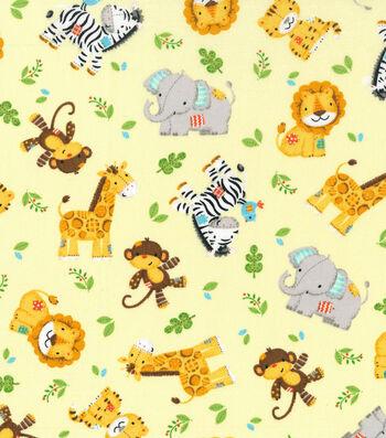 "Nursery Cotton Fabric 43""-Zoo Animal Toss"