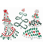 Jolee's Boutique® Holiday Bling Stickers 3pk-Holiday Trees, , hi-res