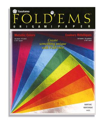 Metallic Origami Paper, Assorted Colors