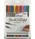 Le Plume II Double-Ended Brush Lettering Marker Set-Primary