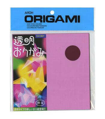 """Origami Paper 5.875""""X5.875"""" 21/Pkg-Transparent Plastic"""