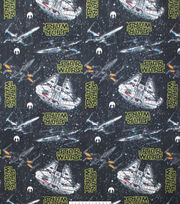 "Star Wars Fleece Fabric 58""-Ships Black, , hi-res"