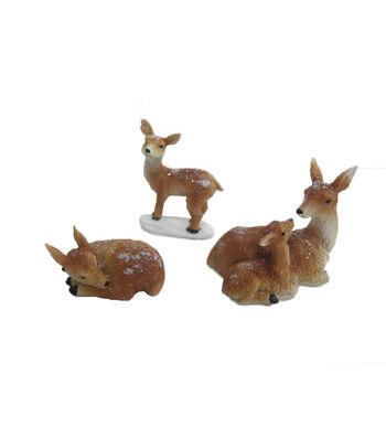 Maker's Holiday Christmas Littles 3 pk Resin Deer