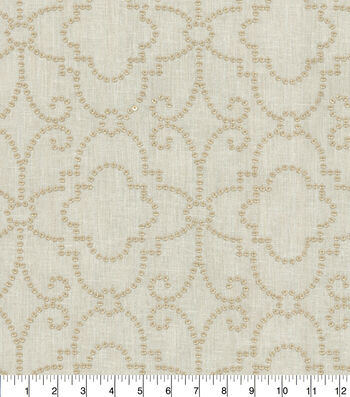 Dena Home Embroidered Upholstery Fabric 54''-Gilded Wow Factor