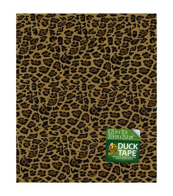 """Duck Tape Single Sheets 8.25""""X10""""-Leopard"""