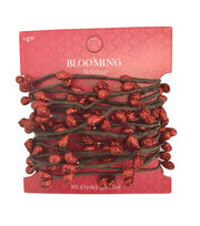 Blooming Holiday Christmas 9' Glitter Berry Roping Garland-Red, , hi-res