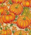Harvest Linen Fabric 58\u0022-Linen Look Pumpkin Metallic
