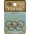 Vintaj Smooth Jump Ring 15mm Natural Brass 5pc