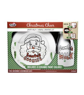 Tulip® Christmas Painting Kit-Santa Milk & Cookies
