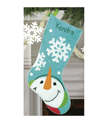 Dimensions Felt Applique Kit Catching Snowflakes Stocking