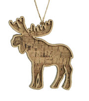 Maker's Holiday Glistening Pines Glitter Cork Moose Ornament-Brown, , hi-res