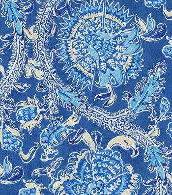 "Waverly Sun N Shade Outdoor Fabric 54""-Holi Festival Indigo"
