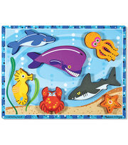 Melissa & Doug Sea Creatures Chunky Puzzle, , hi-res
