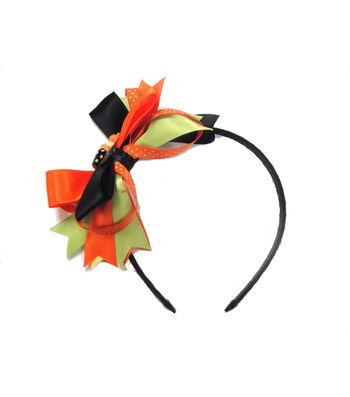 Maker's Halloween Headband with Pumpkin Cupcake & Ribbons