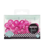 "Heidi Swapp Marquee Love Bulb Caps .75"" 24/Pkg-Pink, , hi-res"