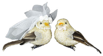 "3"" Gold Wedding Bird Couple 2 Piece"