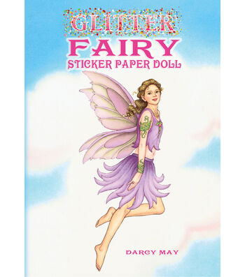 Dover Publications-Glitter Fairy Sticker Paper Doll Book
