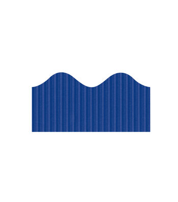 Busy Kids Learning Bordette Corrugated Border-Royal Blue