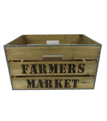 Farm Storage Medium Wooden Box-Farmers Market
