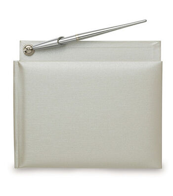 Wilton® Traditional Guest Book & Pen-White