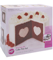 Wilton® Tasty-Fill Cake Pan Set-Hearts, , hi-res