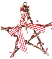 Maker's Holiday Woodland Lodge Twig Star with Pepper Berry Ornament, , hi-res
